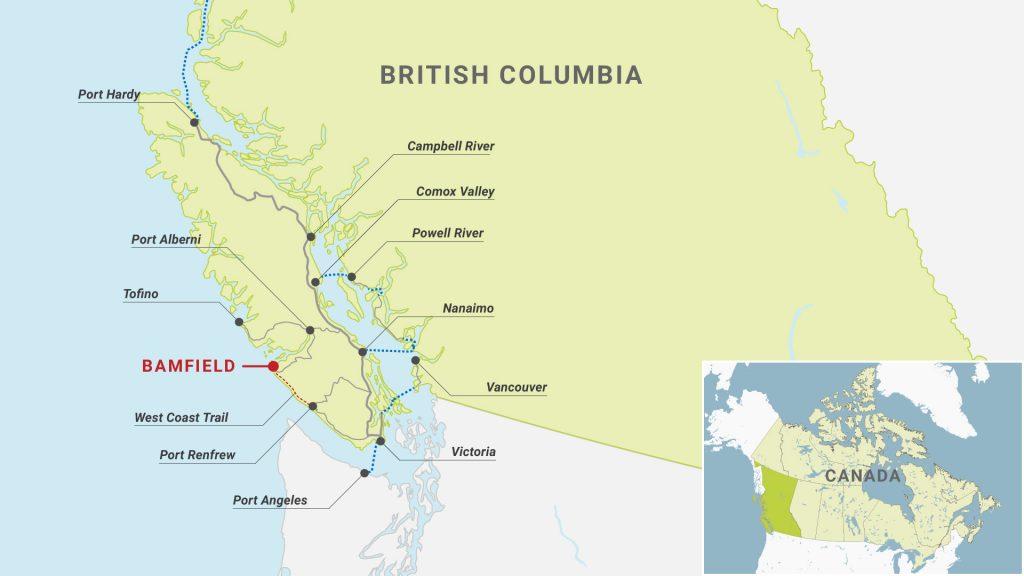 Bamfield BC map