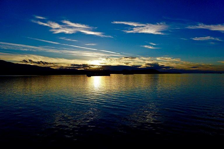 Sun setting on Barkley Sound